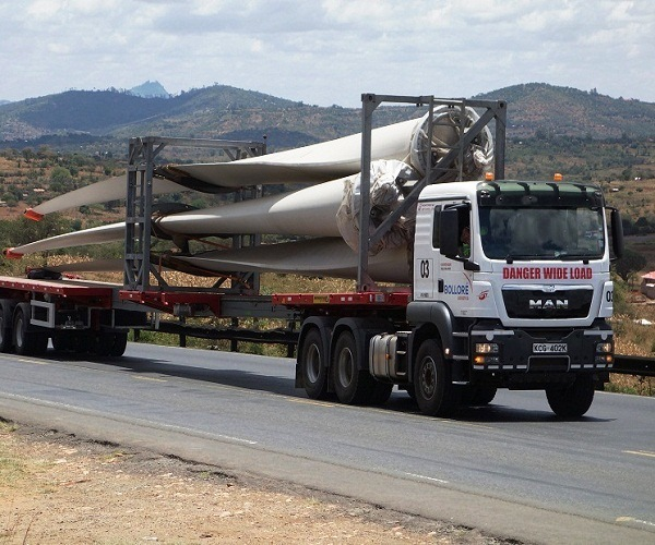 Bollore delivers wind turbines to Lake Turkana project