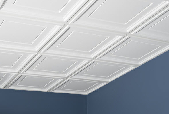 Here is how you can decorate ceiling tiles cce l online news - Can you wallpaper drop ceiling tiles ...
