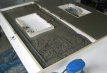 Step-by-step guide to making concrete countertops