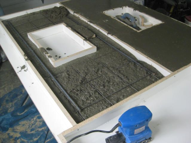 how to make a concrete kitchen sink step by step guide to concrete countertops cce l 9476