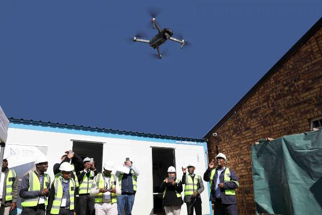 South Africa's Guateng resorts to drones to tackle project