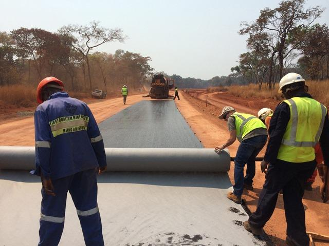 Fibertex AM-2 needle punched nonwoven fabric used in road construction and maintenance