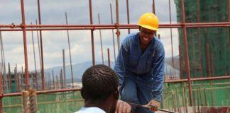 Kenya's mall Garden City trains youth on construction skills