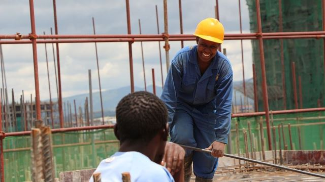 Kenya's mall Garden City trains youth on construction skills