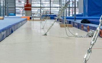 High-tech polish gym installs high-tech flooring