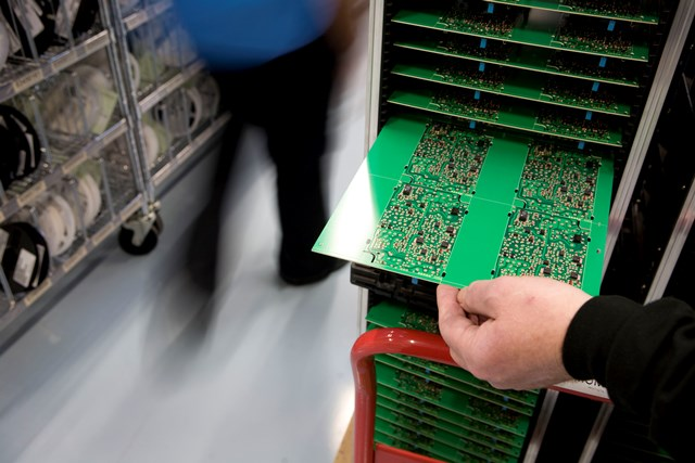 The electronics industry requires antistatic flooring to protect sensitive components