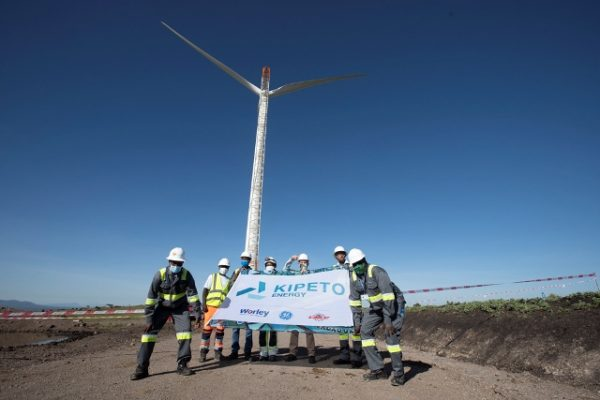 Kipeto wind farm achieves major milestone