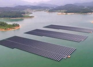 Construction of Seychelles floating solar PV plant suspended