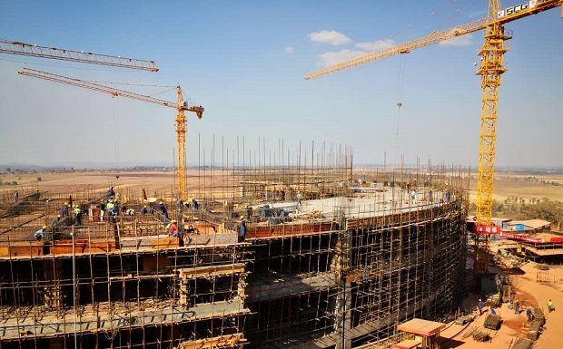 Structural work on new parliament building in Zimbabwe complete