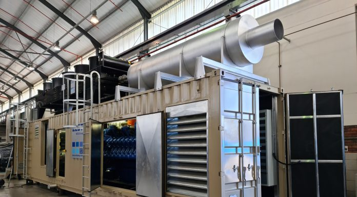 Zest WEG constructs large diesel generator for South African miner