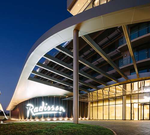 A look at newly constructed Radisson Hotel & Convention Centre