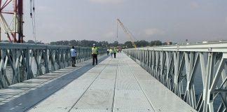 Newly constructed Likoni floating bridge launched
