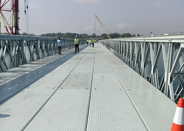 Newly constructed Likoni floating bridge launched
